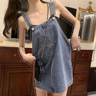 Pobblebonk - Denim Mini Overall Dress