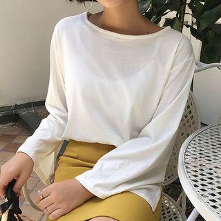Champi - Plain Long-Sleeve T-Shirt