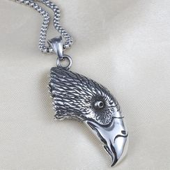 Prushia(プルシア) - Stainless Steel Eagle Pendant Necklace