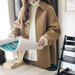 Frigga - 純色單排扣大衣