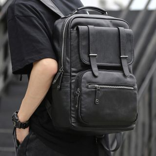 Moyyi - Faux Leather Backpack