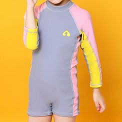 Roseate - Kids Paneled One Piece Rash Guard