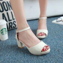 Shoes Galore - Block Heel Sandals