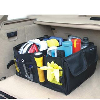 SEREQI - Foldable Car Storage Basket