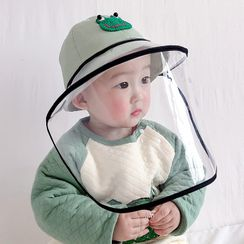 Allium - Kids Print Bucket Hat with Detachable Face Shield