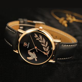 YAZOLE - Embellished Strap Watch