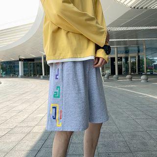 POSI - Printed Wide-Leg Sweatshorts