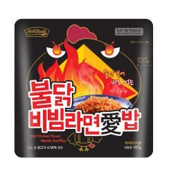Easybab - Korean Bibimbap with Noodle Hot Chicken Flavor 107g