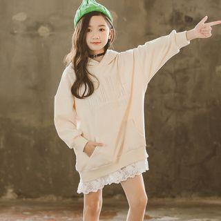 Cuckoo - Kids Lace Panel Hoodie Dress