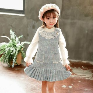 Cuckoo - Kids Tweed Sleeveless Dress