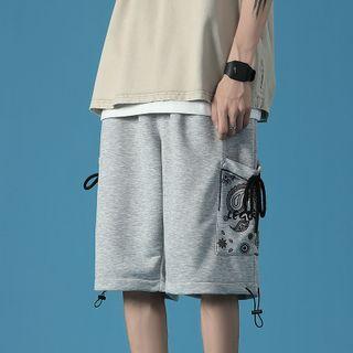 Kimeya - Paisley Print Straight Leg Sweatshorts