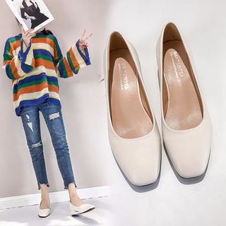 kokoin - Plain Faux Leather Flats