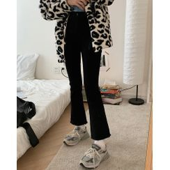 Moon City - Boot-Cut Jeans / Leopard Print Zip-Up Jacket / Print Hoodie