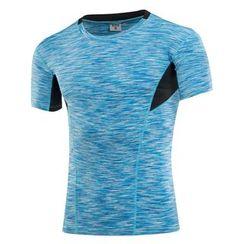 FoxFlair - 男士緊身運動短袖衫