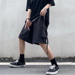 Koiyua - Plain Straight Leg Cargo Shorts
