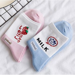 Cottonet - Color-Block Crew Socks