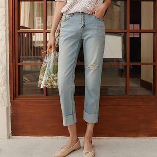JUSTONE - Rollup-Hem Straight-Leg Jeans
