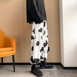 Dukakis - Cow Patterned Sweatpants
