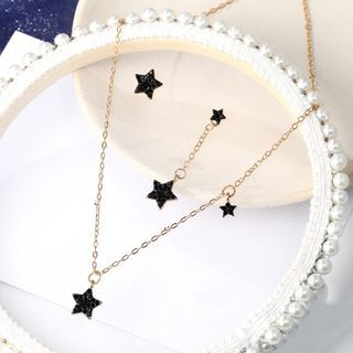 Zarafinus - Star Rhinestone Pendant Necklace