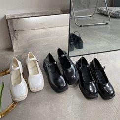 时尚麦乐 - 厚底玛莉珍鞋