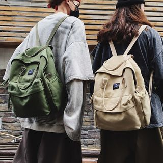 ETY - Top Handle Canvas Backpack