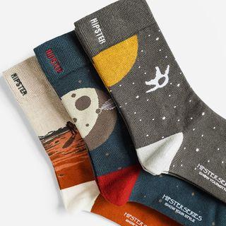 QUICKSOOX - Space Graphic Socks / Set (3 Pairs)