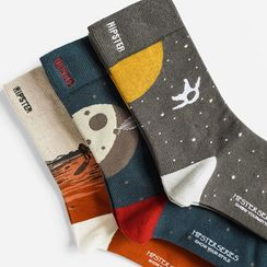 QUICKSOOX - Space Graphic Socks / Set (3 Pairs)