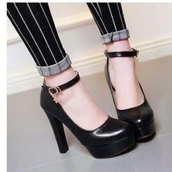 Freesia - 粗跟厚底鞋