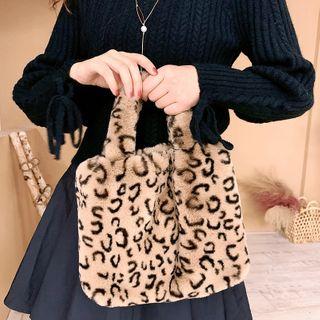 Ticoo(ティクー) - Leopard Furry Hand Bag