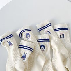 Cottonet - Embroidered Socks (Various Designs)