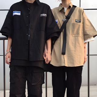 Shineon Studio - Pocket Elbow-Sleeve Shirt