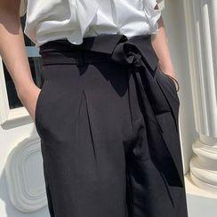 Bjorn - Tie-Waist Straight Cut Pants