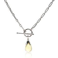 Bellini - Round Toggle Lemon Quartz Briolette Necklace