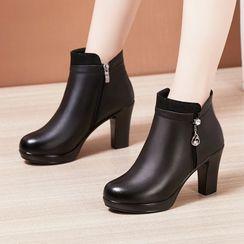 Obelie - 厚底粗跟及踝靴