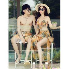 Sirene - 情侣款碎花游泳短裤 / 比基尼泳衣 / 罩衫 / 套装