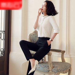 Skyheart - 七分袖衬衫 / 西裤 / 塑身裙 / 套装