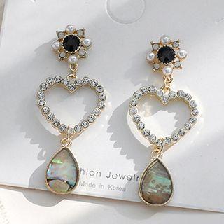 JAMIEL - Rhinestone Heart Dangle Earring