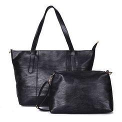 Mayanne - 兩件套: 手提包 + 斜挎包