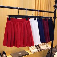 Cherry Dress - Inset Shorts Pleated Skirt