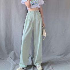 Shinsei - High-Waist Wide-Leg Dress Pants