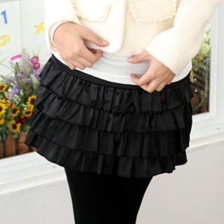 59 Seconds - Satin Layered Skirt
