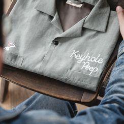Maden - Short-Sleeve Lettering Shirt