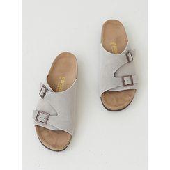 PLAYS(プレイズ) - Buckle-Detail Slide Sandals
