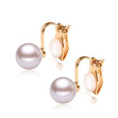 Prushia(プルシア) - Faux Pearl Clip-On Earring