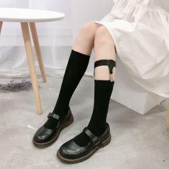 FlorSwallow - 纯色袜子 / 吊袜带 / 套装