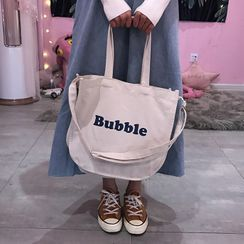 YUPIN - Lettering Canvas Tote Bag