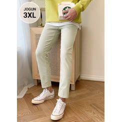JOGUNSHOP - Cropped Straight-Cut Chino Pants