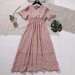 Be Bonita - Short-Sleeve V-Neck A-Line Dress