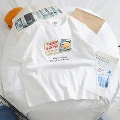 OSIGRANDI - Short-Sleeve Graphic Print T-Shirt