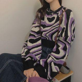 Alfie - Print Cropped Sweater